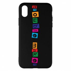 Etui na iPhone X/Xs Trouble maker. Color