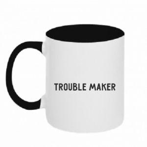 Kubek dwukolorowy Trouble maker
