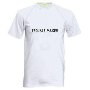 Męska koszulka sportowa Trouble maker