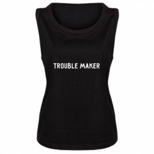 Damska koszulka bez rękawów Trouble maker