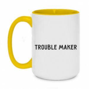 Kubek dwukolorowy 450ml Trouble maker