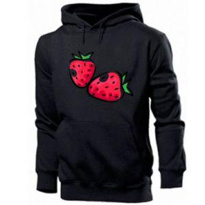 Męska bluza z kapturem Truskawka, jagoda