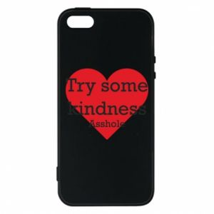 Etui na iPhone 5/5S/SE Try some kindness asshole