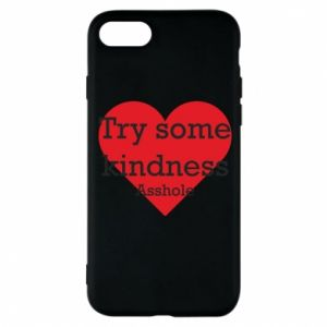 Etui na iPhone 8 Try some kindness asshole