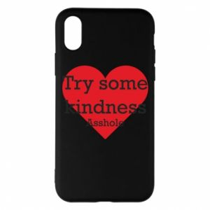 Etui na iPhone X/Xs Try some kindness asshole