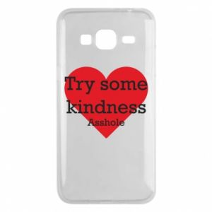 Etui na Samsung J3 2016 Try some kindness asshole