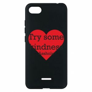 Etui na Xiaomi Redmi 6A Try some kindness asshole