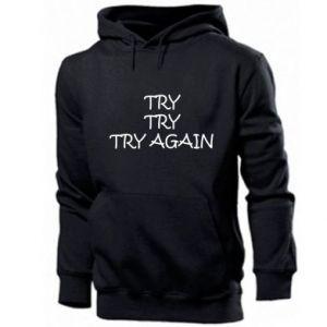Bluza z kapturem męska Try, try, try again