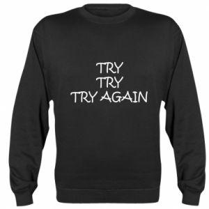 Bluza (raglan) Try, try, try again