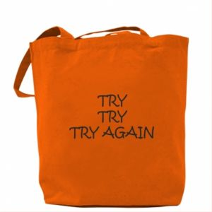 Torba Try, try, try again