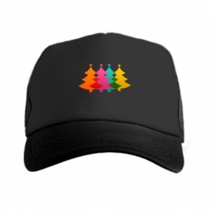 Trucker hat Three Christmas trees