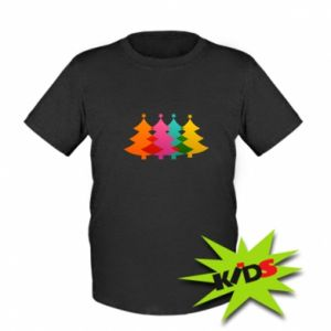 Kids T-shirt Three Christmas trees