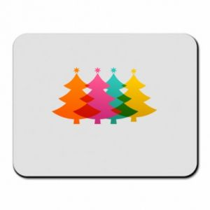 Mouse pad Three Christmas trees