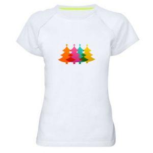 Damska koszulka sportowa Trzy Choinki