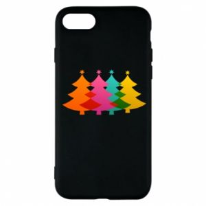Phone case for iPhone 7 Three Christmas trees