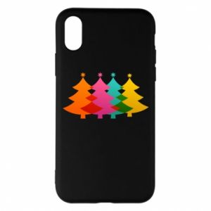 Phone case for iPhone X/Xs Three Christmas trees