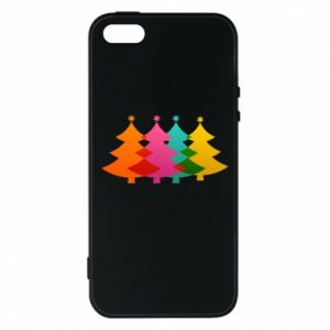 Phone case for iPhone 5/5S/SE Three Christmas trees