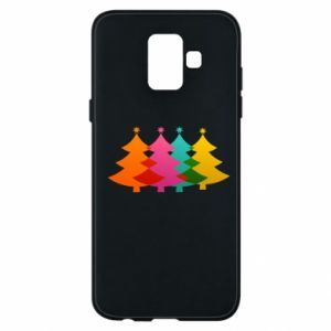 Phone case for Samsung A6 2018 Three Christmas trees