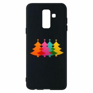 Phone case for Samsung A6+ 2018 Three Christmas trees