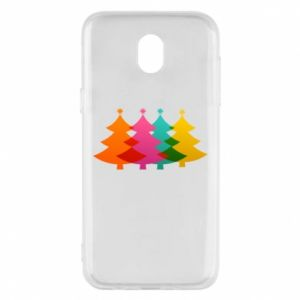 Phone case for Samsung J5 2017 Three Christmas trees