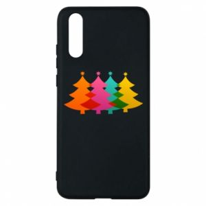 Phone case for Huawei P20 Three Christmas trees