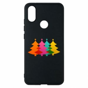 Phone case for Xiaomi Mi A2 Three Christmas trees