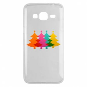 Phone case for Samsung J3 2016 Three Christmas trees