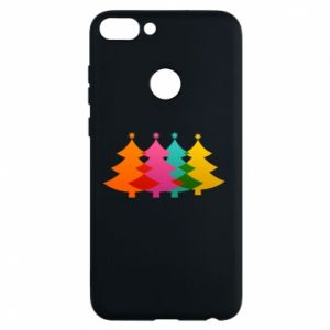 Phone case for Huawei P Smart Three Christmas trees