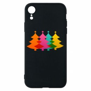 Phone case for iPhone XR Three Christmas trees