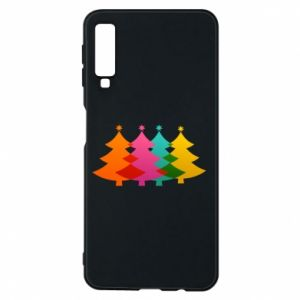 Phone case for Samsung A7 2018 Three Christmas trees