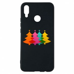 Phone case for Huawei P Smart Plus Three Christmas trees