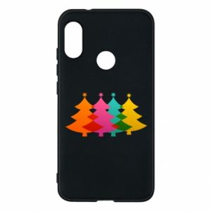 Phone case for Mi A2 Lite Three Christmas trees