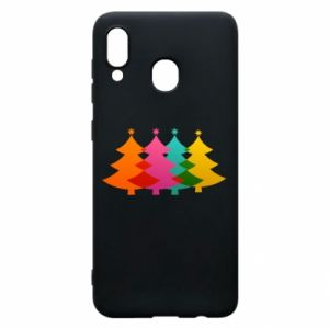 Phone case for Samsung A20 Three Christmas trees
