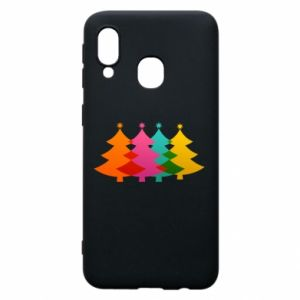Phone case for Samsung A40 Three Christmas trees