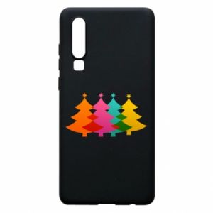 Phone case for Huawei P30 Three Christmas trees
