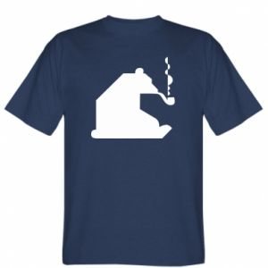 T-shirt Bear with a pipe