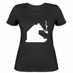 Damska koszulka Niedźwiedź z fajką