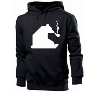 Men's hoodie Bear with a pipe