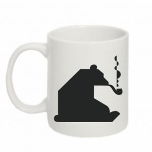Mug 330ml Bear with a pipe