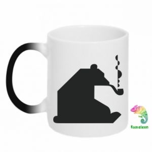 Kubek-kameleon Niedźwiedź z fajką