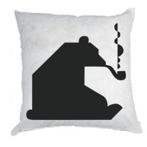 Poduszka Niedźwiedź z fajką