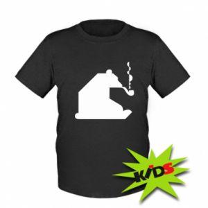 Dziecięcy T-shirt Niedźwiedź z fajką
