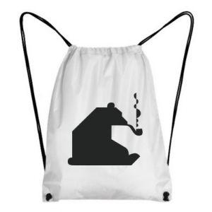 Plecak-worek Niedźwiedź z fajką