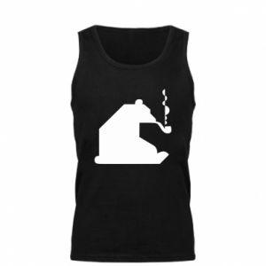 Męska koszulka Niedźwiedź z fajką