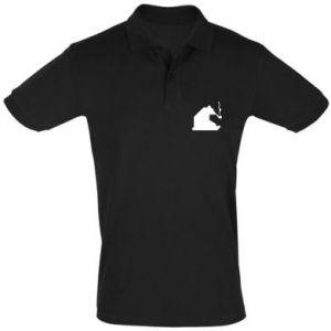 Koszulka Polo Niedźwiedź z fajką