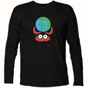 Koszulka z długim rękawem Trzymam świat!