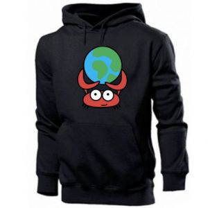 Men's hoodie I hold the world!