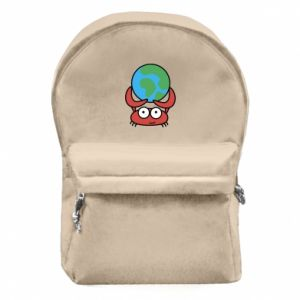 Backpack with front pocket I hold the world!