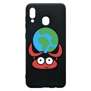 Phone case for Samsung A30 I hold the world!