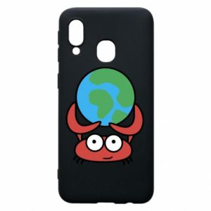 Phone case for Samsung A40 I hold the world!